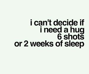 quotes, hug, and sleep image