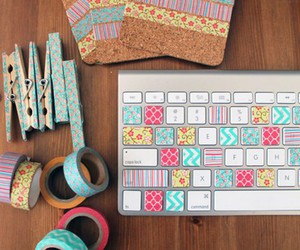 diy, colorful, and keyboard image