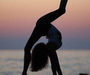 girl, beach, and dance image