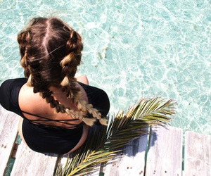 beach, bikini, and braids image