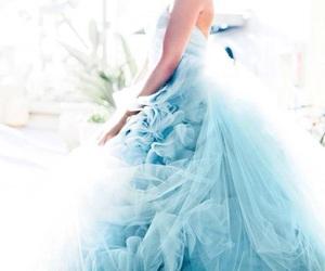 blue, dress, and wedding image