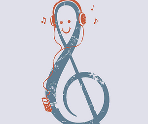 blue, music, and red image