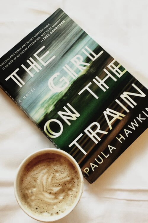 book, coffee, and the girl on the train image