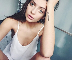 girl, eyes, and tattoo image