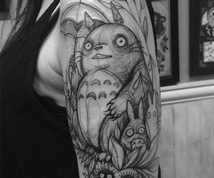 tattoo, totoro, and anime image