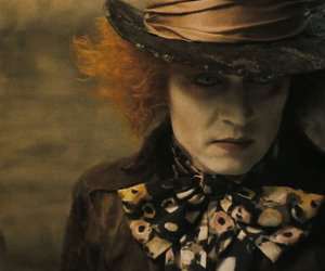 johnny depp, mad hatter, and alice in wondrland image