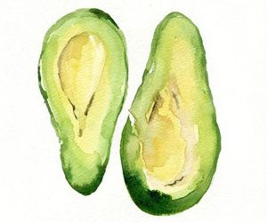art, avocado, and draw image