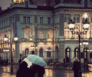 rain, paris, and city image