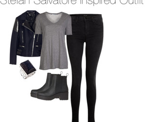 outfit, the vampire diaries, and paul wesley image