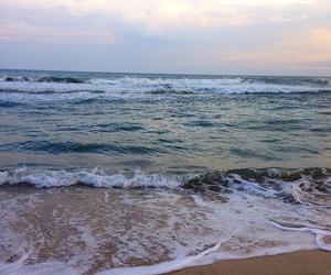 beach, fish, and mermaid image