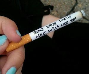 cigarette, smoke, and song image