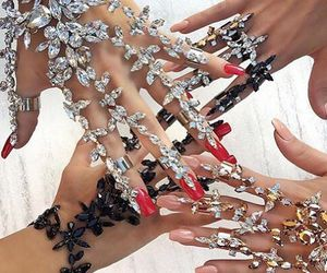 nails, jewelry, and diamond image