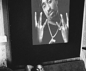 tupac, kendrick lamar, and black and white image