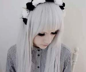 hair, white, and pastel image