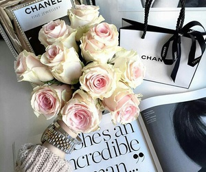 chanel, fashion, and roses image