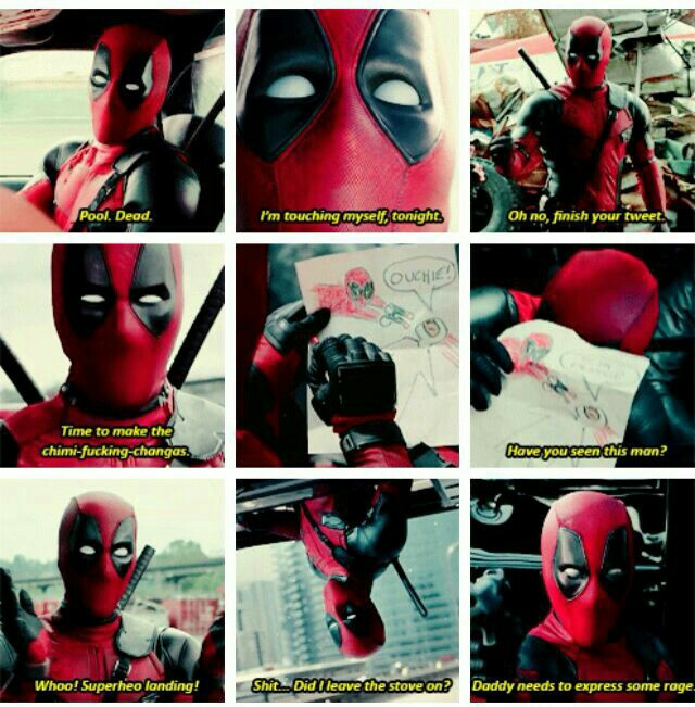 Deadpool being Deadpool discovered by Sharlene