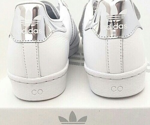 adidas, silver, and white image