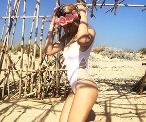 beachwear, summer, and fashion image