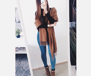 brown, fall, and boots image