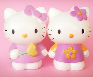 hello kitty, pink, and cute image