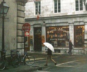 street, vintage, and rain image
