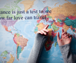 distance, travel, and love image