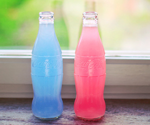 blue, pink, and coca cola image