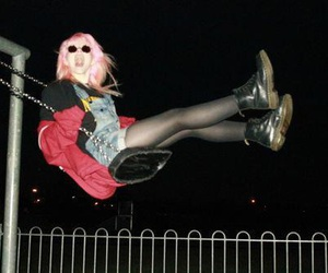 grunge, girl, and night image