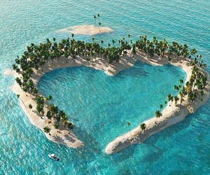 heart, Island, and summer image
