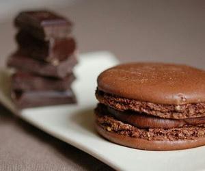 chocolate, food, and macaron image