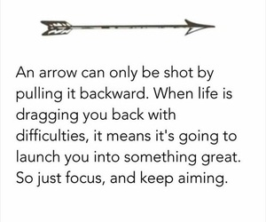 arrow, life, and quote image