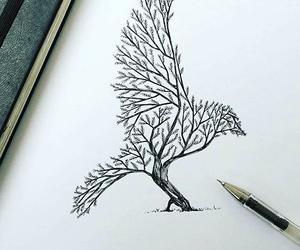dessin, oiseau, and feuille image