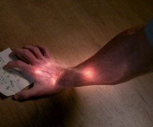 hand, red, and supernatural image