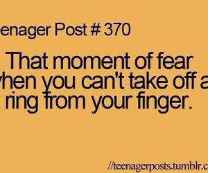teenager post, ring, and fear image
