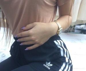 adidas, girl, and nails image
