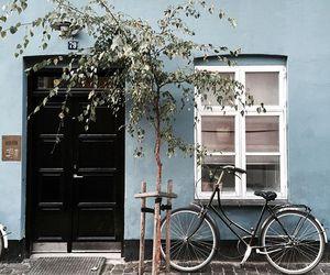 vintage, bike, and blue image