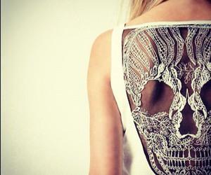fashion, skull, and white image