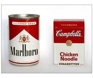 marlboro, campbell, and soup image