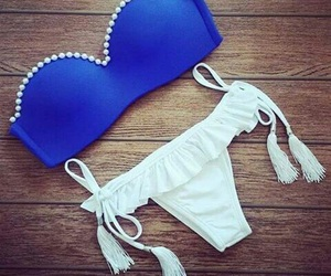 bikini, summer, and blue image