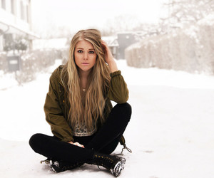 blonde, girl, and hair style image