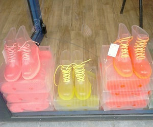 shoes and pink yellow orange image