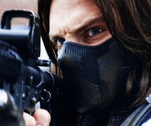 sebastian stan, the winter soldier, and bucky barnes image