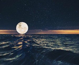 moon and sea image