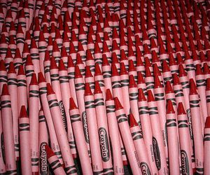 aesthetic, crayons, and red image