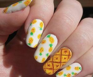 art, nails, and pinapple image