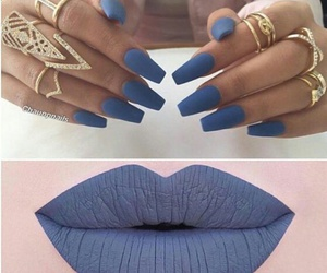 nails, blue, and lips image