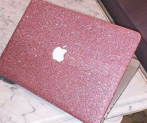 pink, apple, and glitter image