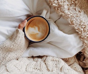 bed, coffee, and latte image