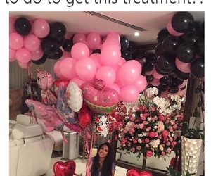 balloons, flowers, and present image