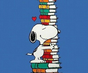 books, inspiration, and snoopy image